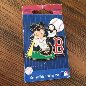 Micky Mouse Red Sox Trading Pin